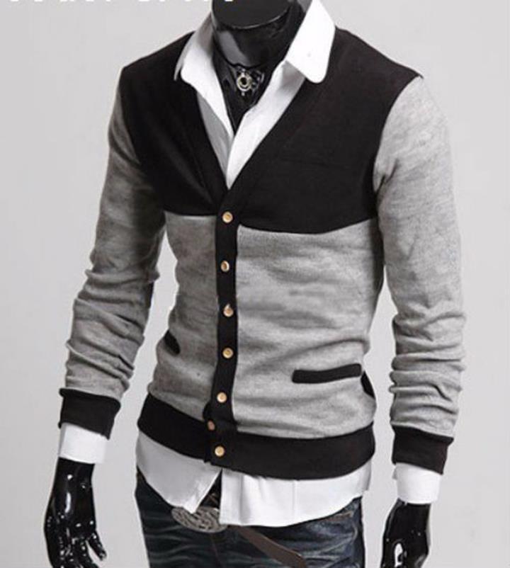 Áo khoác Cardigan phối màu cá tính - CA10 1