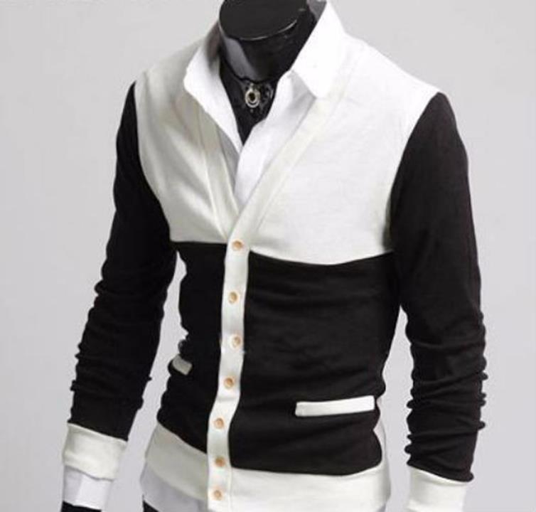 Áo khoác Cardigan phối màu cá tính - CA10 2