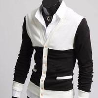 Áo khoác Cardigan phối màu cá tính - CA10