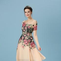 Đầm Xòe Hoa Nhẹ Nhàng