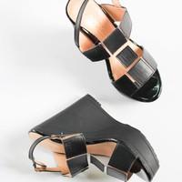 LINCY.VN - Giày sandal đế xuồng 12cm quai vuông - Lincy A235