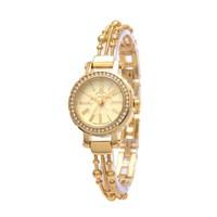 Đồng hồ nữ JULIUS JU979 thép 3 sợi liên hoàn - Vàng lấp lánh