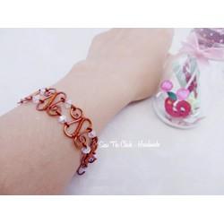 Lắc tay dây đồng handmade