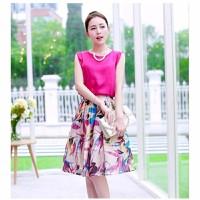HÀNG NHẬP CAO CẤP - Set chân váy hoa + áo voan