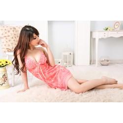 Váy ngủ hai dây gợi cảm hồng cam