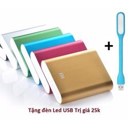 Pin sạc dự phòng xiaomi 10400 mah + đèn Led USB