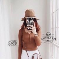 Áo len dài tay len gân cái nút thời trang hàng thu đông AL14