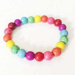 Vòng tay đá nhiều màu hạt tròn