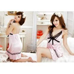 Đầm ngủ dễ thương màu hồng nhạt