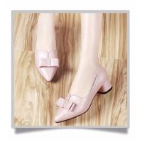 HÀNG CAO CẤP CHẤT NGOẠI NHẬP - Giày gót vuông nơ