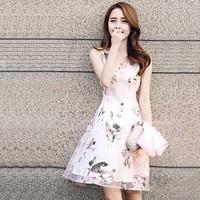 HÀNG CAO CẤP - ĐẦM HOA XÒE VOAN KIẾNG -1412