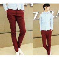 Quần kaki nam màu đỏ form đẹp dành cho phái mạnh giá rẻ nhất