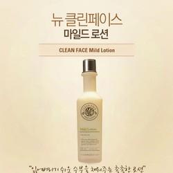 Nước hoa hồng cho da dầu và mụn Clean Face Mild Tone
