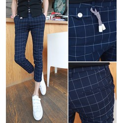 quần dài kaki caro cá tính - Mã: ND0543 - 1