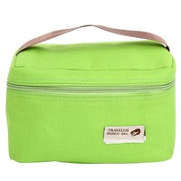 Túi giữ nhiệt đựng cơm travelus kiểu Hàn Quốc - xanh lá