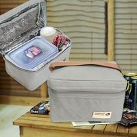 Túi giữ nhiệt đựng cơm travelus kiểu Hàn Quốc - xám