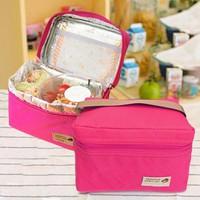 Túi giữ nhiệt đựng cơm travelus kiểu Hàn Quốc - hồng