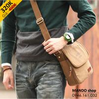 Túi đeo chéo, túi đựng iPad, túi vải bố - DB13