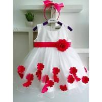 Đầm công chúa bông đỏ CX040