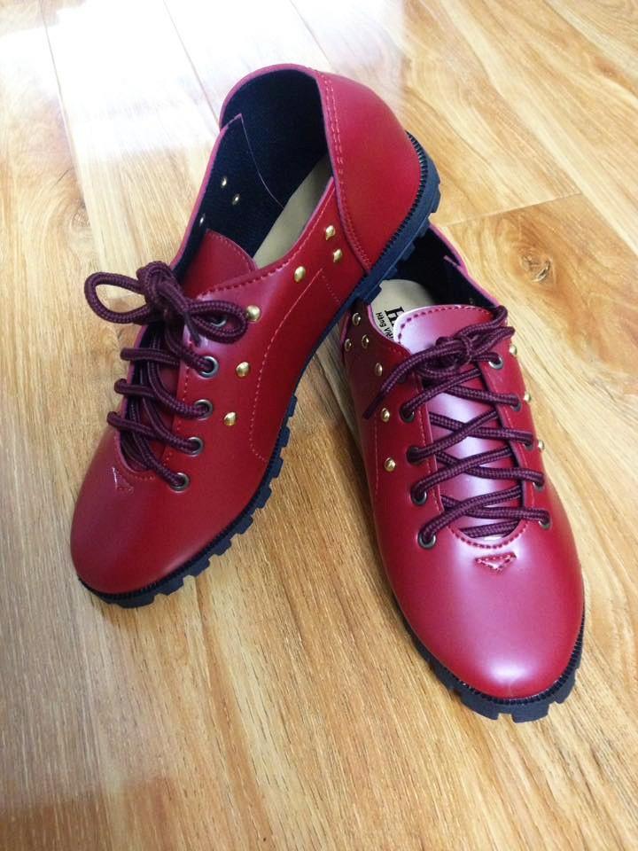 Giày Oxford Nữ Tán Nive. Cam đoan rẻ nhất Sendo 1