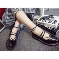 Giày búp bê cột dây