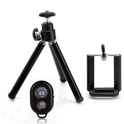 Combo Giá Đỡ Đế Kẹp 3 Chân Cho Điện Thoại Máy ảnh + Remote Bluetooth