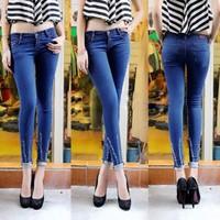 Quần Jeans Nữ Wax Ống