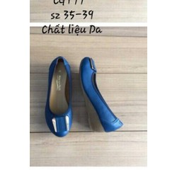 Giày búp bê đế xuồng 5cm da thật mềm mại