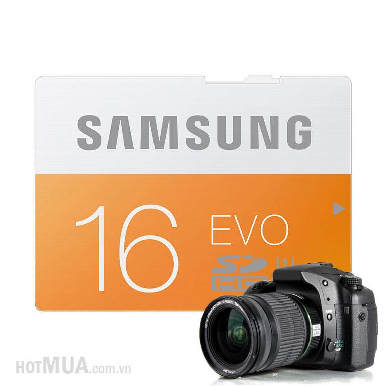 Thẻ Nhớ Micro SD Samsung Evo 16G class 10 Fullbox - Bảo Hành 5 năm. 2