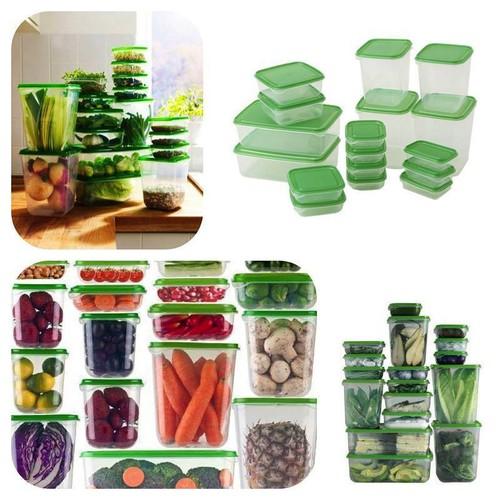 Bộ hộp đựng thức ăn 17 món đa năng dùng được trong lò vi sóng
