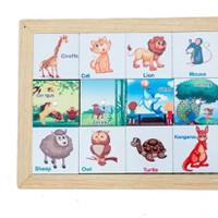 Đồ chơi gỗ nhận biêt 32 loại động vật 2 mặt