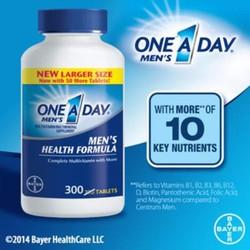 One a day men Bayer chai 300 viên.Vitamin tổng hợp cho nam dưới 50