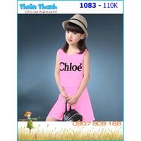 Bộ bé gái Chloe hồng đáng yêu cho bé 9-26kg