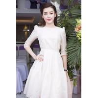 Đầm Voan Tay Lỡ Nhún Bèo Dễ Thương -MSP 2455