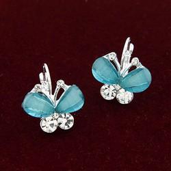 bông tai bướm xanh xinh xắn