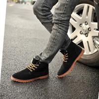 Giày boot da lộn cổ cao Glado - G45