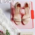 LINCY.VN - Giày sandal cao gót 7cm quai ngang trẻ trung - Lincy J222