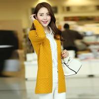 Áo khoác len đan ô mùa thu