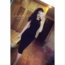 ĐẦM ÔM BODY BA LỖ NGƯỢC - V0152