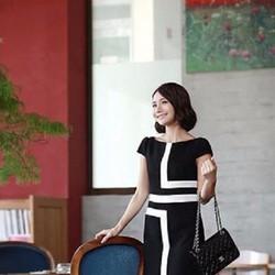 HÀNG ĐỘC. VẢI NHẬP TỪ MỸ, Đầm Phối trắng đen