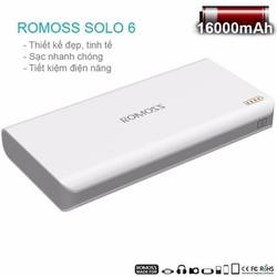 Pin sạc dự phòng Romoss Solo 6