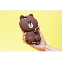 Ốp Gấu Brown 3D iPhone 4 4S iPhone 5 5S