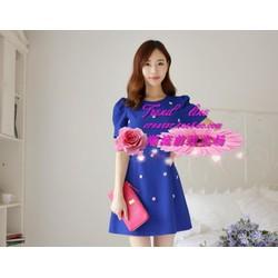 Đầm suông đính họa tiết thời trang Hàn Quốc ddp08172
