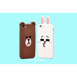 Ốp Gấu Brown Thỏ Cony iPhone 5 5S 6 6S 6 6S Plus