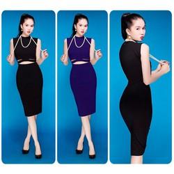 Đầm body cutout giống Ngoc Trinh - D1082