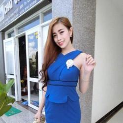 Đầm ôm vai chéo sang chảnh, hàng thiết kế cao cấp, fom chuẩn