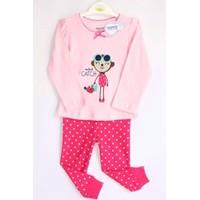 Bộ quần áo tay dài cho bé gái họa tiết Monkey - YY3