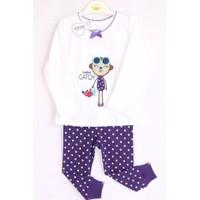 Bộ quần áo tay dài cho bé gái họa tiết Monkey - YY2