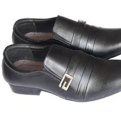 Giày Da Công Sở Màu Đen Khóa Kim Loại PN2  Phong Cách mới