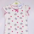 Bộ quần áo cho bé gái họa tiết trái tim - YY5